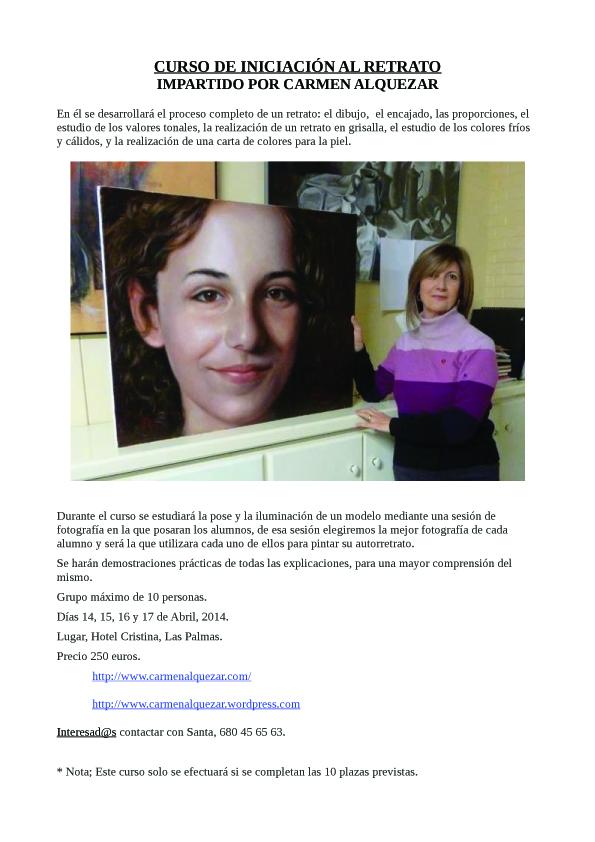 Curso de Retrato en Las Palmas de Gran Canaria