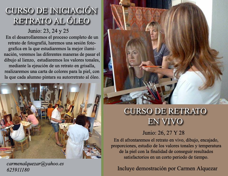 cursos intensivos de retrato Carmen Alquezar